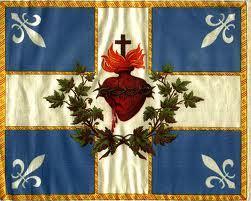 Bandera con el Sagrado Corazón